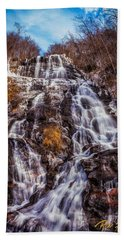 Beach Towel featuring the photograph Icy Amicalola Falls by Rikk Flohr