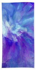 Icy Bloom Beach Towel