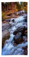 Icy Cascade Waterfalls Beach Towel