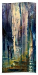 Icy Cavern Abstract Beach Towel
