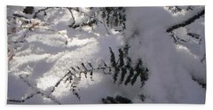 Icy Fern Beach Towel