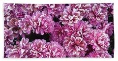Icy Flowers Beach Sheet