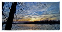 Beach Towel featuring the photograph Icy River by Cricket Hackmann