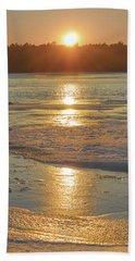 Icy Sunset Beach Towel