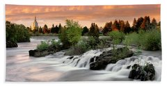Idaho Falls Beach Towel