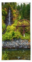 Idaho Springs Water Wheel Beach Towel