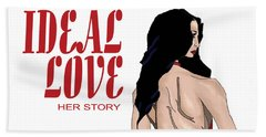 Beach Sheet featuring the digital art Ideal Love Book Cover by Jayvon Thomas