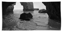 Idyllic Cave In Monochrome Beach Towel by Angelo DeVal
