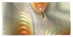 Beach Towel featuring the digital art Ignis Fatuus by Anastasiya Malakhova