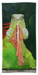 Iguana Dude Beach Towel