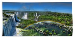 Iguazu Panorama Beach Towel by David Gleeson