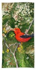 Beach Towel featuring the painting IIwi by Darice Machel McGuire