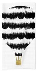 Ikat Stripe Hot Air Balloon- Art By Linda Woods Beach Towel