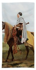 Il Cavaliere Giallo Beach Towel