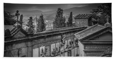 Beach Towel featuring the photograph Il Cimitero E Il Duomo by Sonny Marcyan