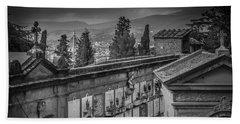 Il Cimitero E Il Duomo Beach Towel by Sonny Marcyan