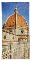 Beach Towel featuring the photograph Il Duomo Florence Italy by Joan Carroll