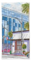 Il Fornaio In Beverly Hills, California Beach Towel