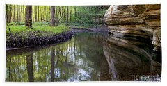 Illinois Canyon In Spring Beach Towel