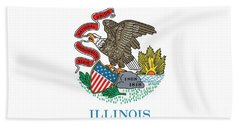 Illinois State Flag Beach Towel by American School