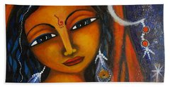 Beach Towel featuring the painting Illuminate by Prerna Poojara
