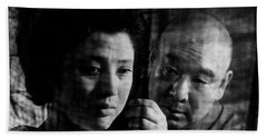 Illusion Of Blood Mariko Okada Beach Sheet by Dan Twyman