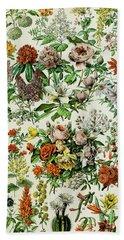 Illustration Of Flowering Plants Beach Towel