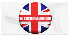 Im Backing Britain Beach Sheet