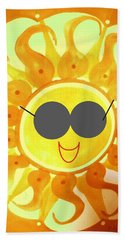 Beach Towel featuring the painting I'm Too Hot For My Shades by Denise Fulmer