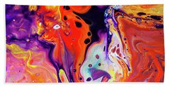 Imagination - Colorful Abstract Art Painting Beach Sheet