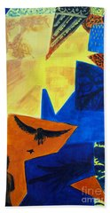 Beach Towel featuring the painting Imagination by Maria Langgle