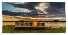 Imagine Sunrise Waterscape Over The Bay Beach Towel