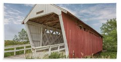 Beach Towel featuring the photograph Imes Covered Bridge by Susan Rissi Tregoning