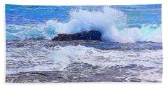 Ocean Impact In Abstract 1 Beach Towel