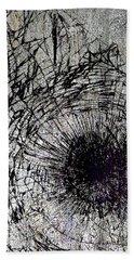 Beach Towel featuring the mixed media Impact by Tony Rubino