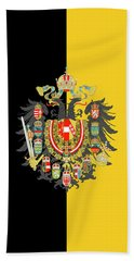 Habsburg Flag With Imperial Coat Of Arms 2 Beach Towel