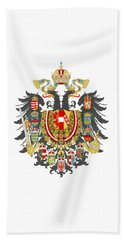 Imperial Coat Of Arms Of The Empire Of Austria-hungary Transparent Beach Towel