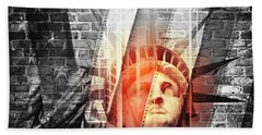 Imperiled Liberty II Beach Towel