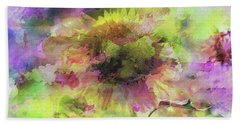 Impression Sunflower Beach Towel