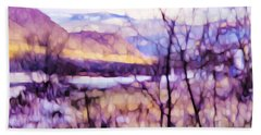 Impressionist Along The River Beach Towel