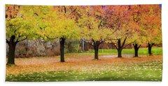 Impressionist Autumn Beach Sheet