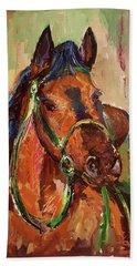 Impressionist Horse Beach Sheet by Janet Garcia