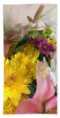 Impressionist Spring Bouquet Beach Sheet