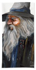 Impressionist Wizard Beach Towel by J W Baker