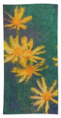 Impressionist Yellow Wildflowers Beach Sheet