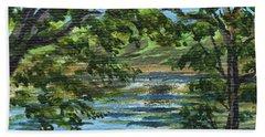 Impressionistic Landscape I Beach Towel