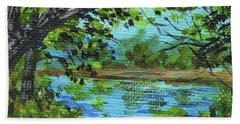 Impressionistic Landscape II Beach Towel