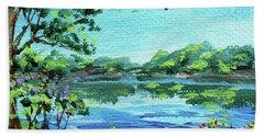 Impressionistic Landscape Number Xxx Beach Towel