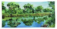 Impressionistic Landscape Xiii Beach Towel