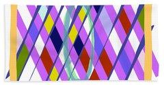 Beach Towel featuring the digital art Improvised Geometry #1 by Bee-Bee Deigner